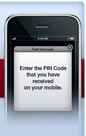 Enter the PIN code that you have received on your mobile